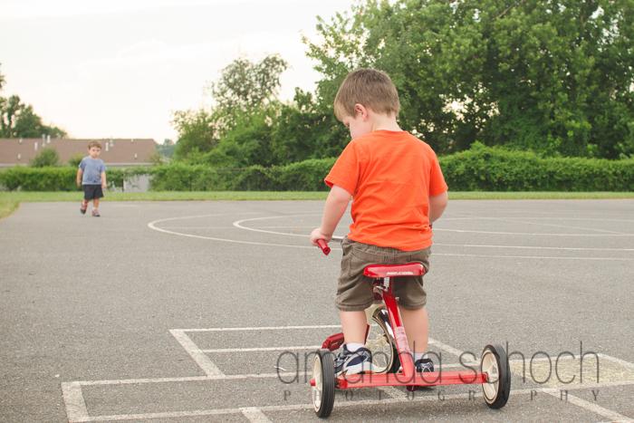 kids on bikes in a park summer-13