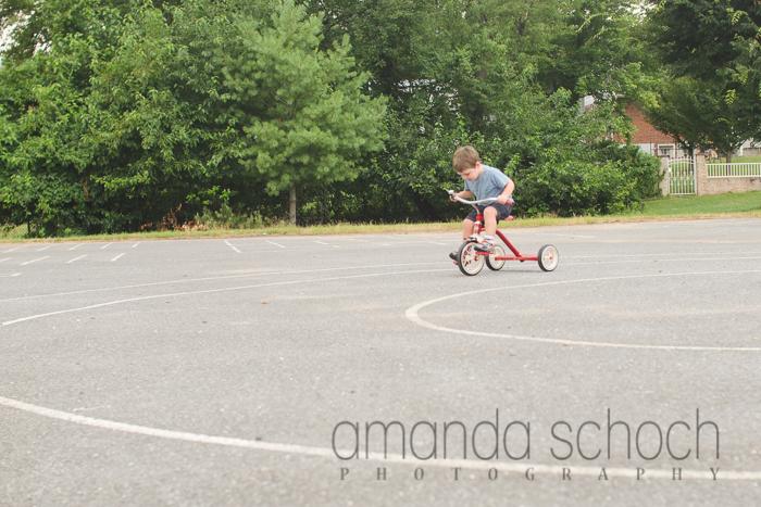 kids on bikes in a park summer-15