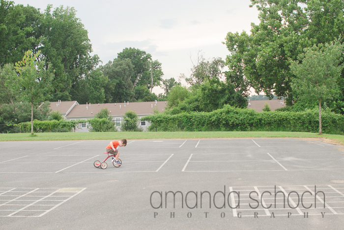 kids on bikes in a park summer-3