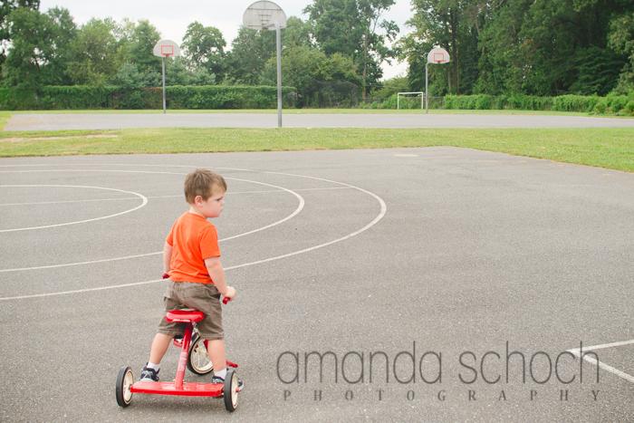 kids on bikes in a park summer-4